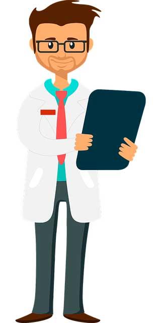 un médecin qui suit un patient