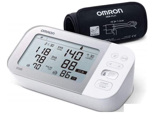 une photo du tensiomètre connecté Omron X7 Smart